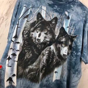 Vintage Shirts - Vintage Wolves Acid Was T-Shirt